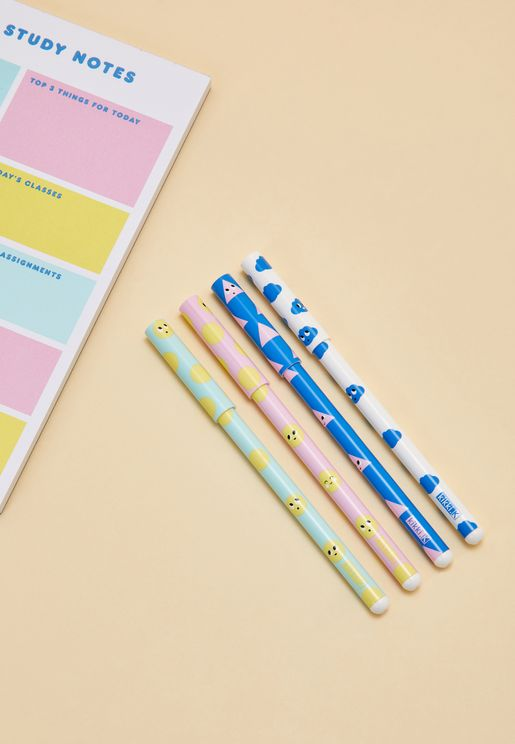 4 Pack Smile Slim Ballpoint Pen