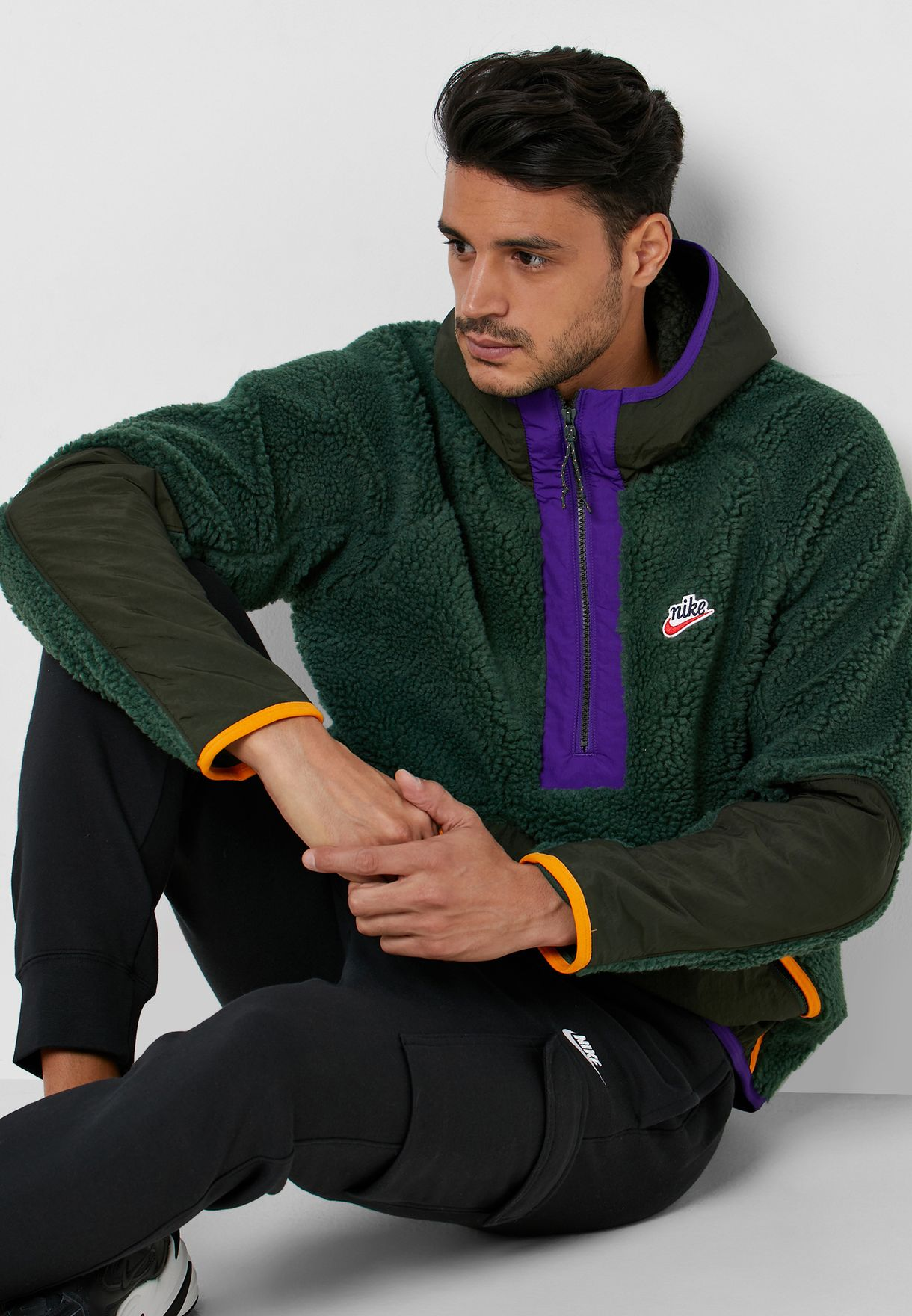Con rapidez Seguro Ejecutar  Buy Nike multicolor Heritage Sherpa Winter Hoodie for Men in MENA,  Worldwide | BV3766-337