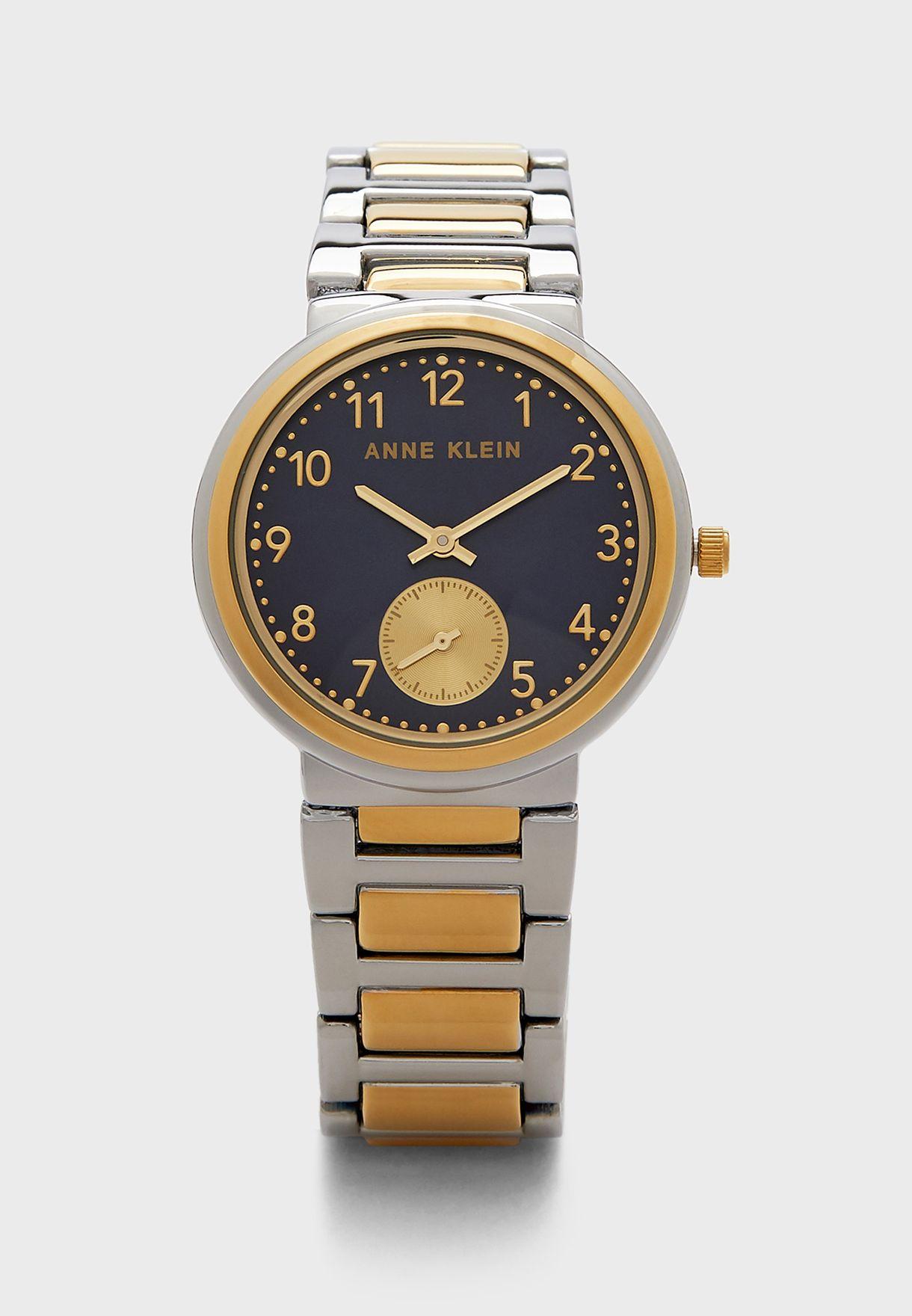 ساعة بحزام ستيل من لونين