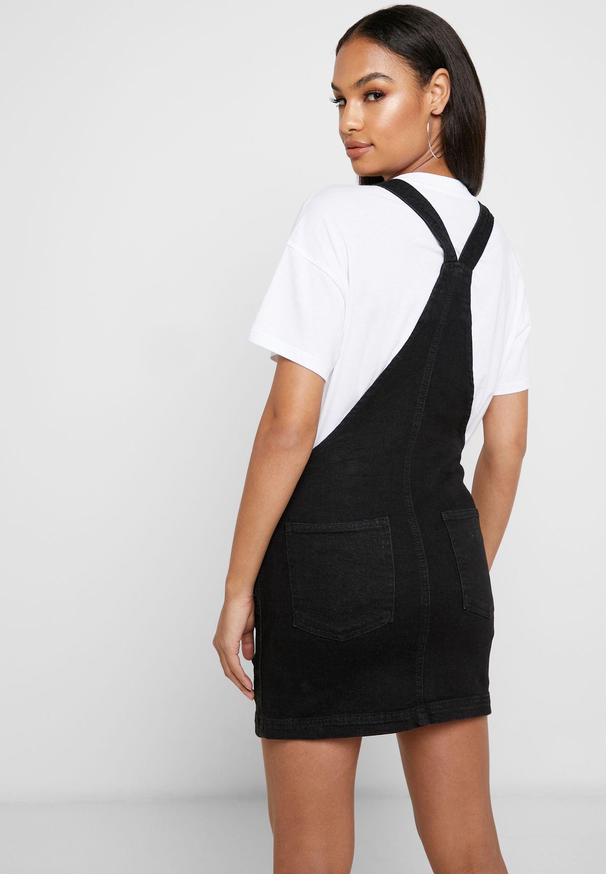 Denim Pinafore Mini Dress