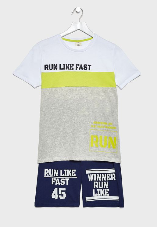 Kids T-Shirt + Varsity Shorts