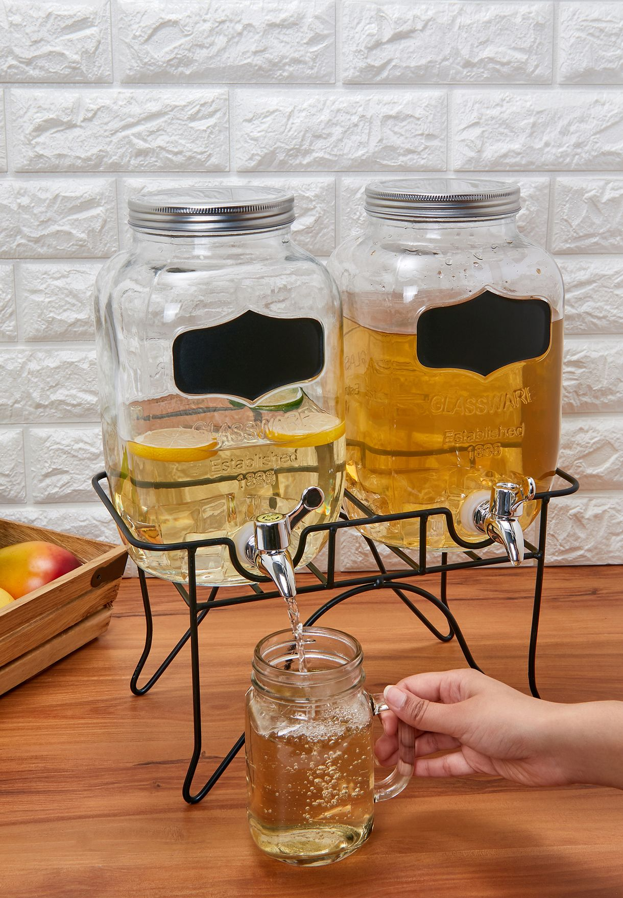 Grocer Glass Dispenser Jar