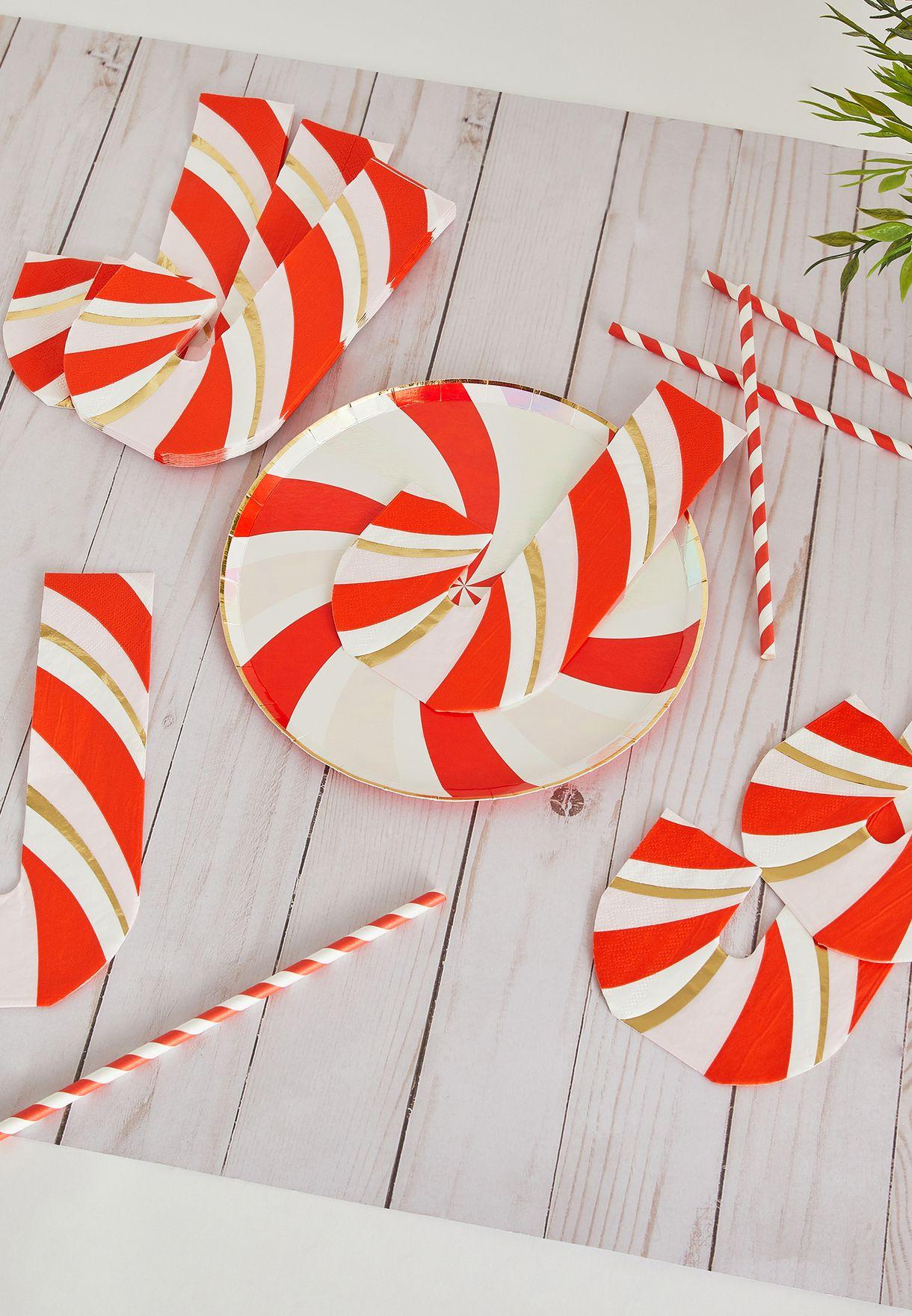 Christmas Candy Cane Napkins