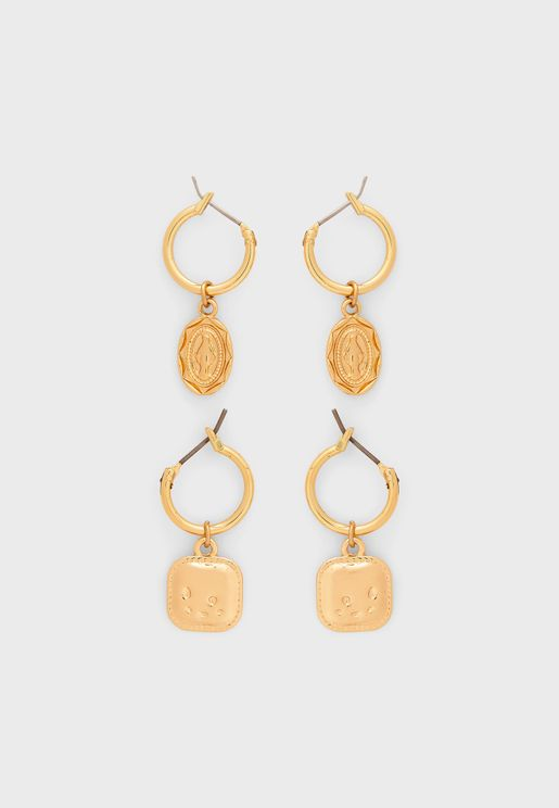 2 Pack Agnes Hoop Earrings