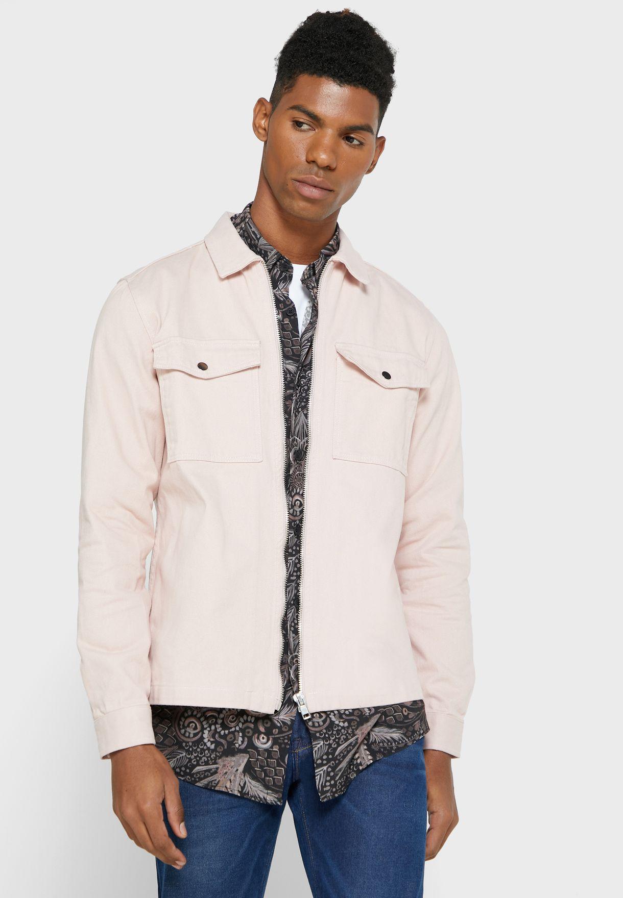 Relaxed Zip Pocket Overshirt
