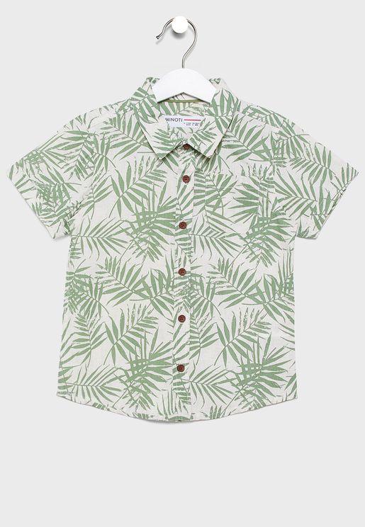 قميص مطبع بياقة كلاسيكية