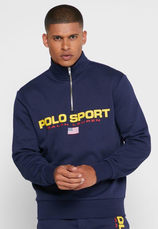 Logo Half Zip Sweatshirt