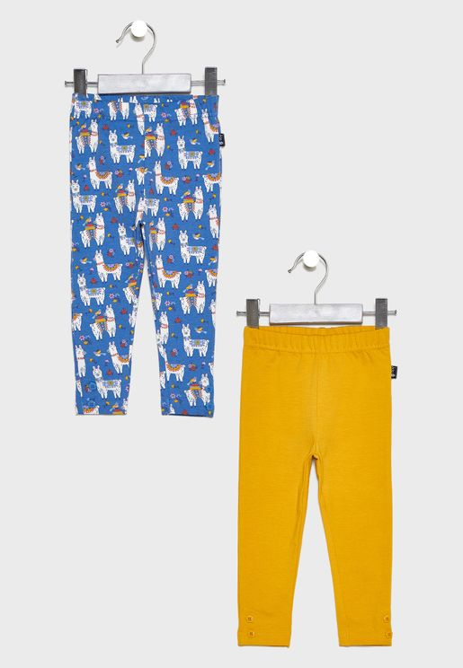 Little 2 Pack Llama Leggings