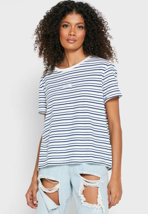 Holiday Patch Striped T-Shirt