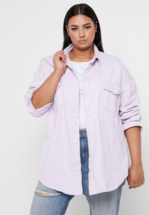 Oversized Denim Shirt