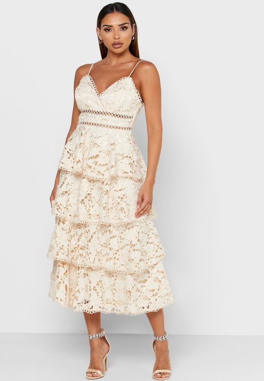 Tiered Cami Lace Dress