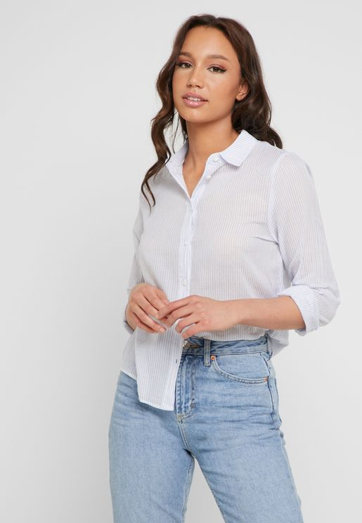 9e334286066d9 Striped Long Sleeve Shirt