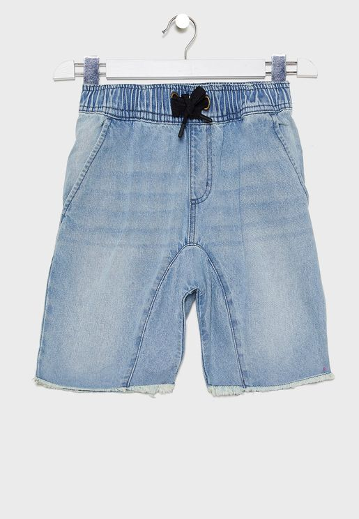 Kids Drop Crotch Denim Short