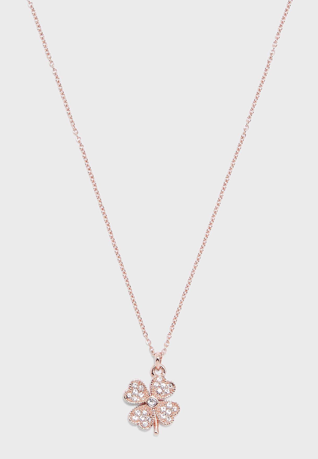 Heyam Hidden Heart Clover Pendant Necklace