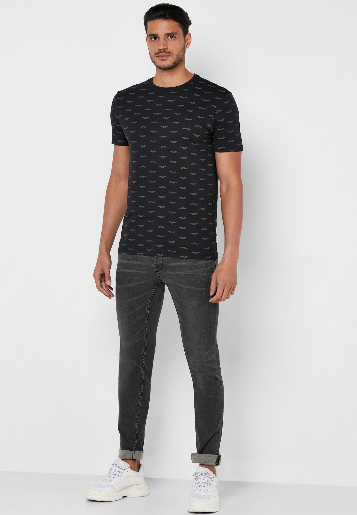 Mseaton AOP Crew Neck T-Shirt