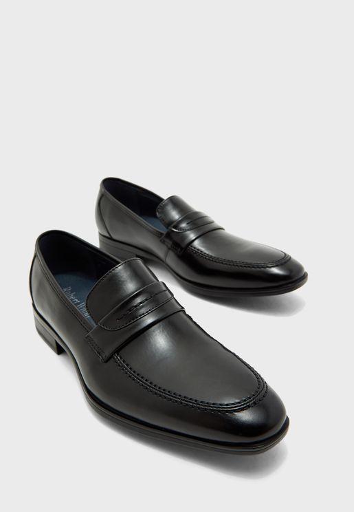 حذاء جلد صناعي سهل الارتداء