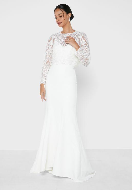 Lace Overlay Bridal Dress