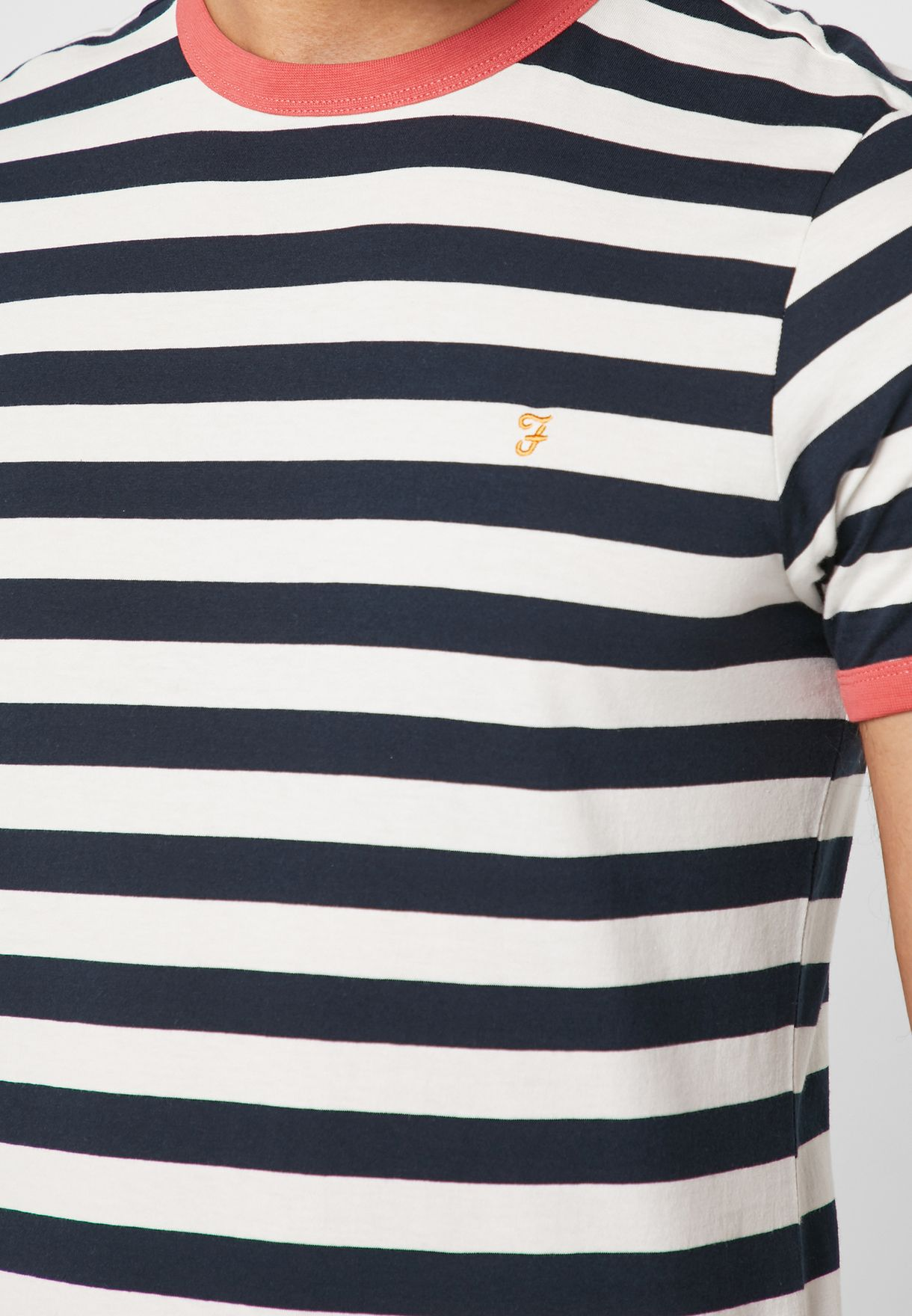 Striped Ringer Crew Neck T-Shirt