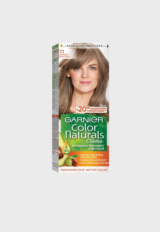 Color Naturals 7.1 Hair Color Ash Blonde