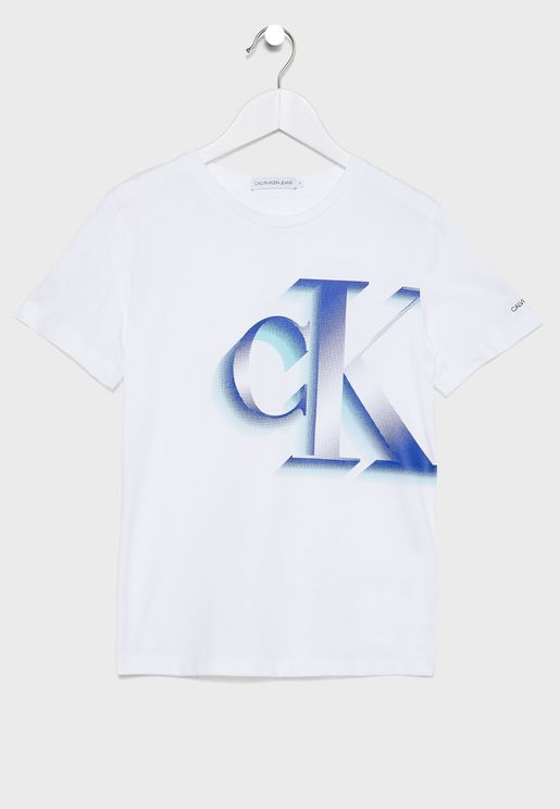Kids Logo Printed Crew Neck T-Shirt