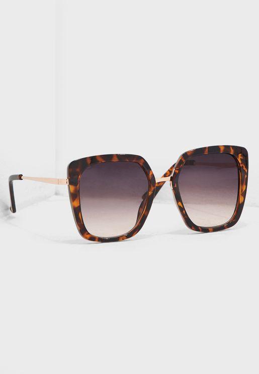 6fd5ee882d5 Natalie Square Faux Tortoiseshell Sunglasses