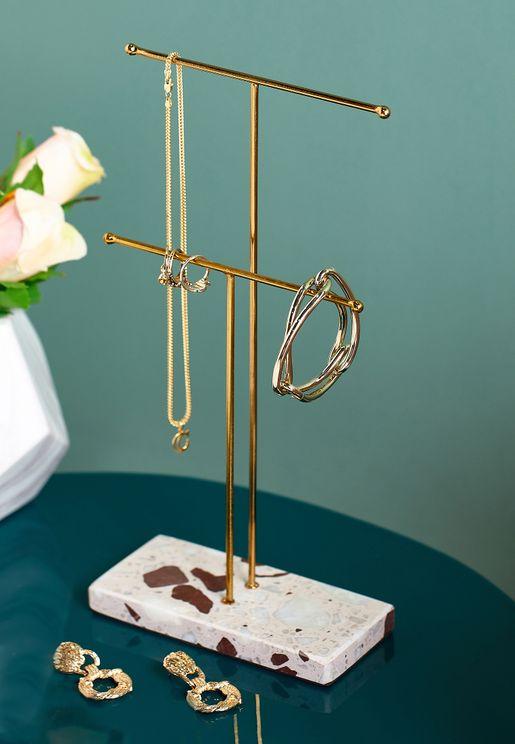 Double Terrazzo Jewellery Stand