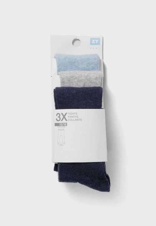 Infant 3 Pack Assorted Stockings