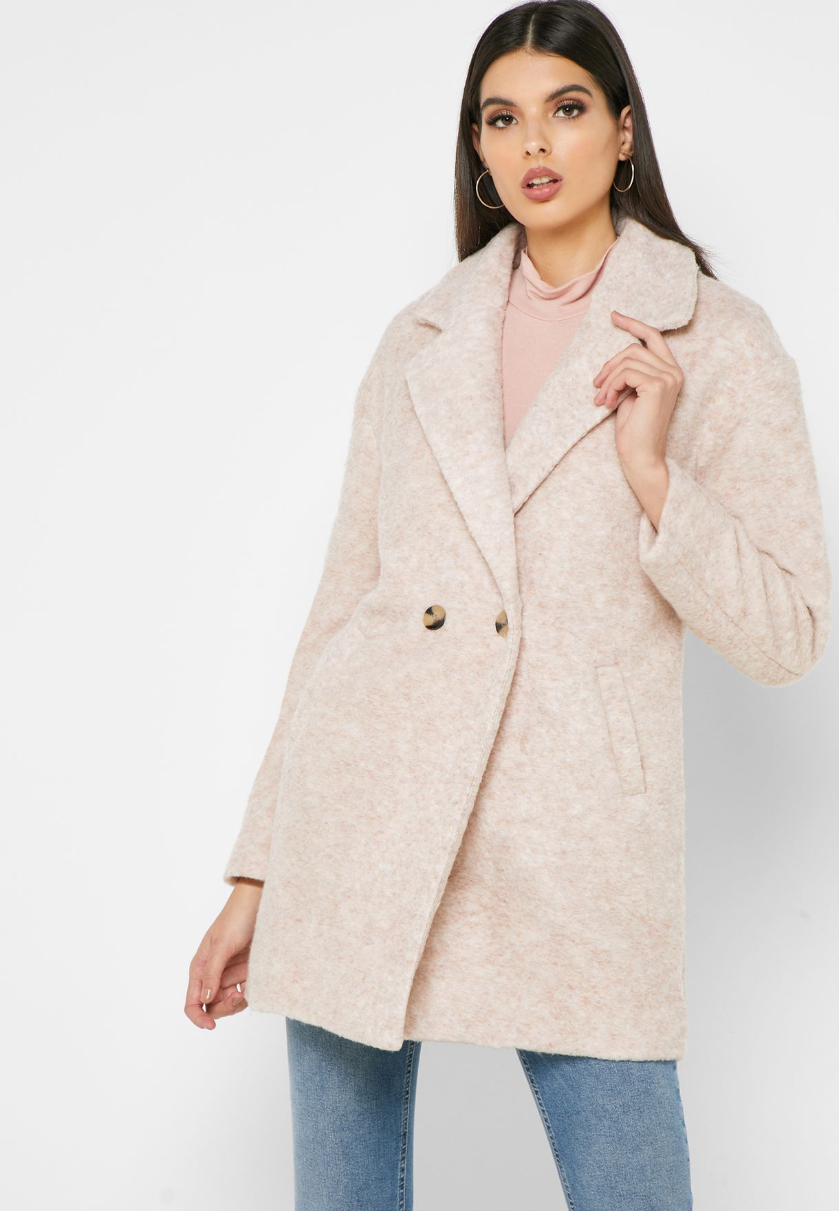 Wool Button Front Coat