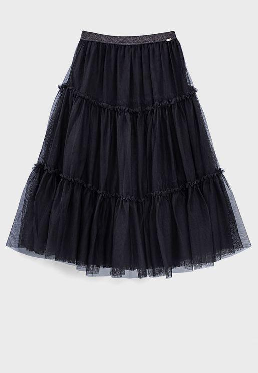 Black Tutu Style Long Skirt