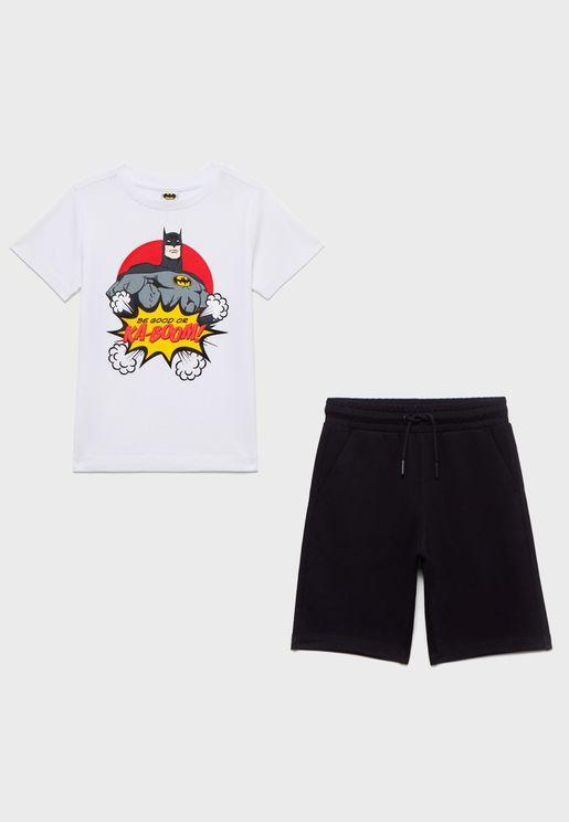 Kids Batman T-Shirt + Shorts Set