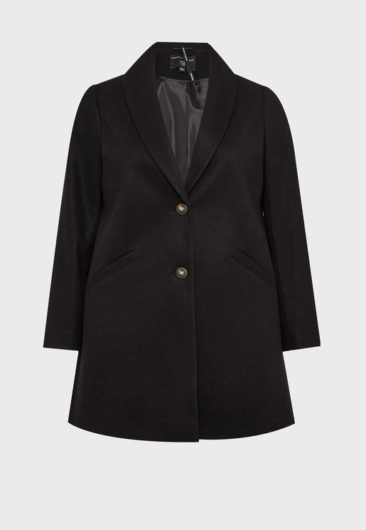 Pocket Detail Crombie Coat