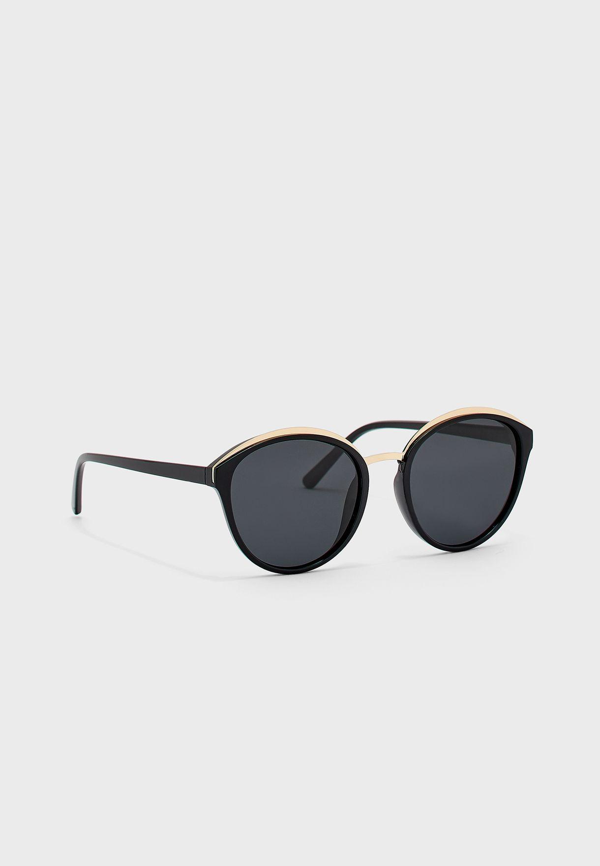 Oversized Catseye Two Colour Polarized Sunglasses