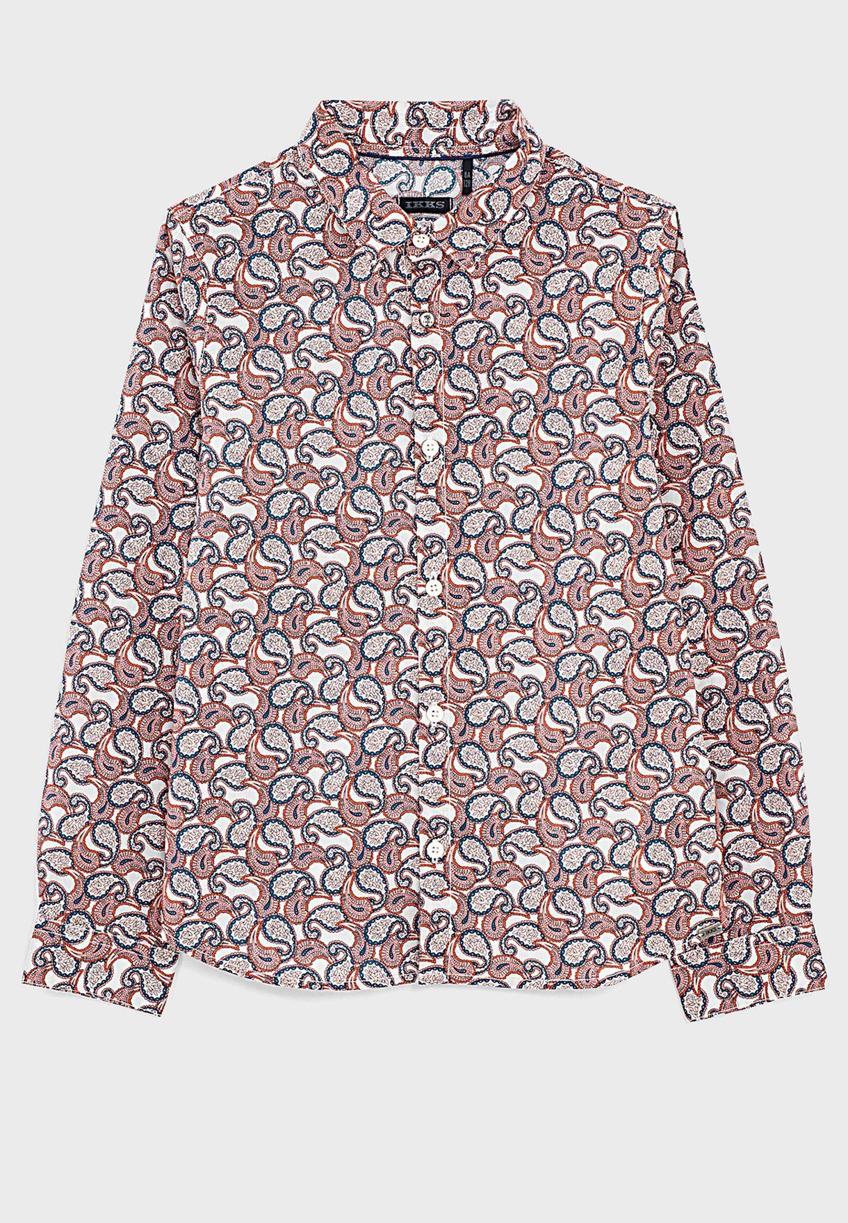Youth Paisley Print Shirt