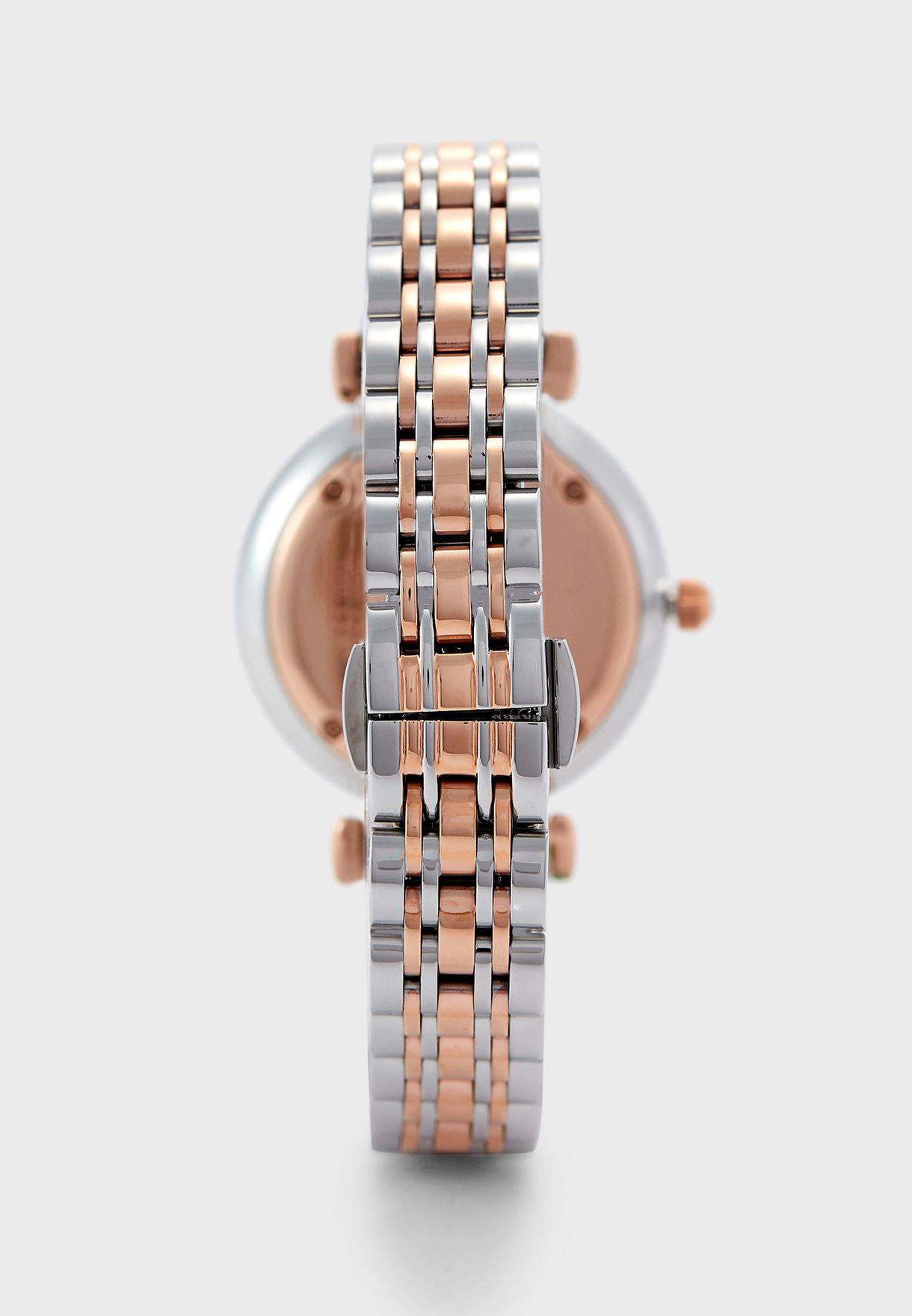 AR80037 Gianni T-Bar Analog Watch & Bracelet Gift