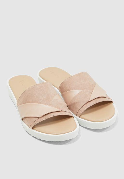 Folded Comfort Sandal