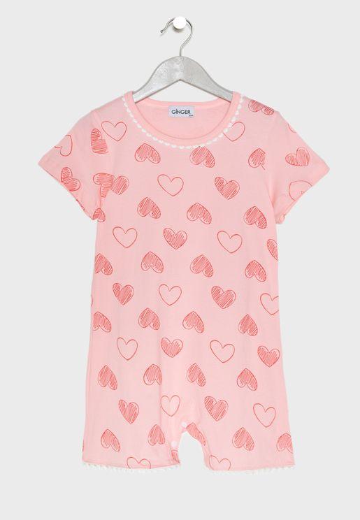 Love Print Night Dress