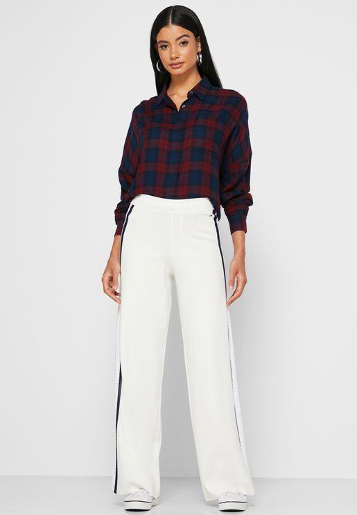 Side Stripe Wide Leg Pants