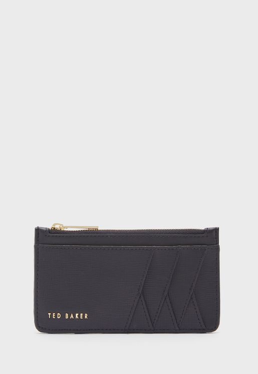 Diagonal Zip Through Card Holder