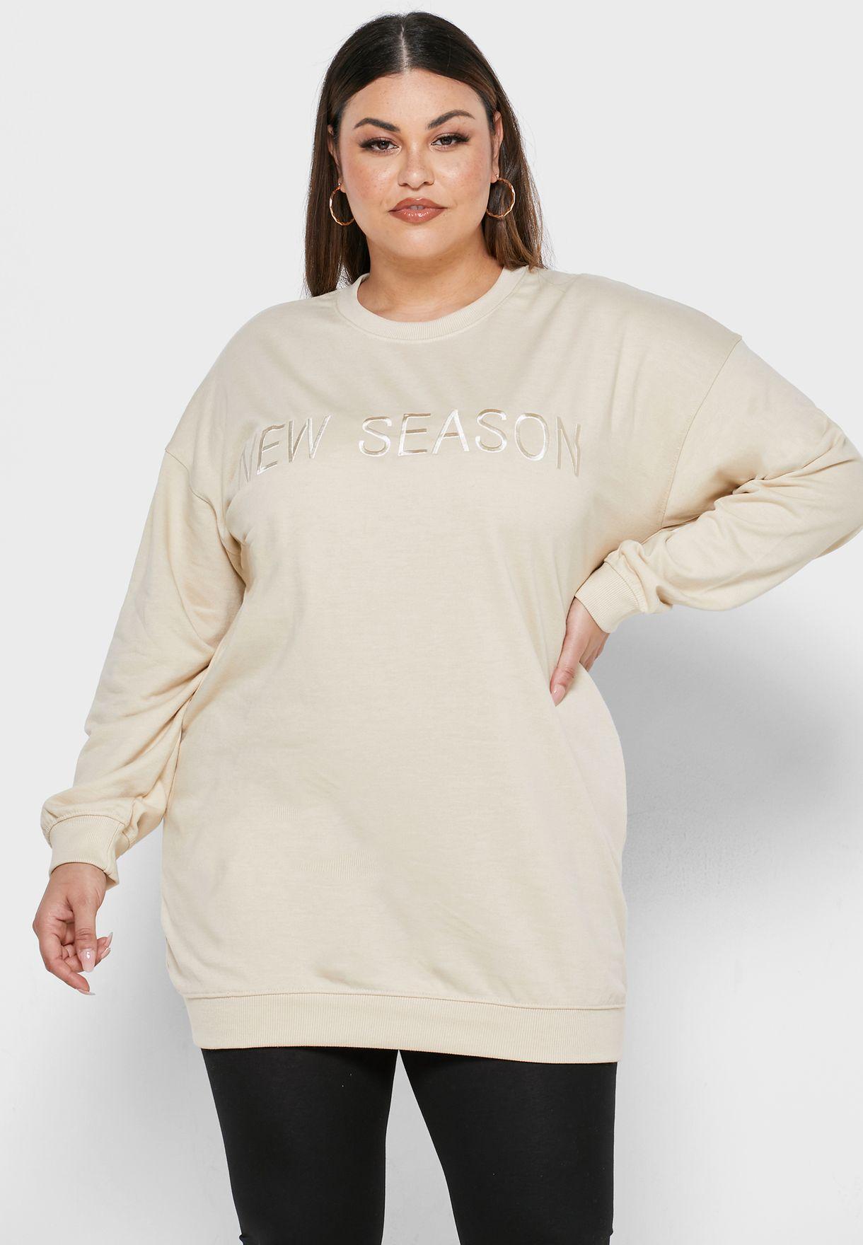Slogan Sweater Dress