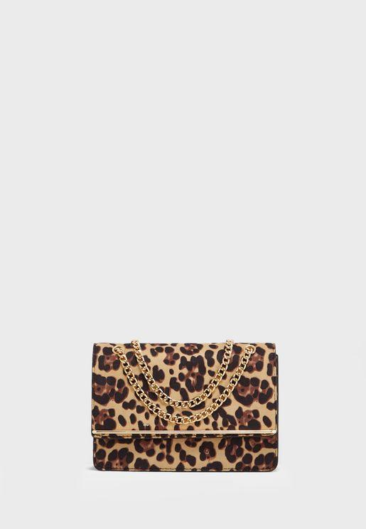 Rochelle Leopard Print Chain Crossbody
