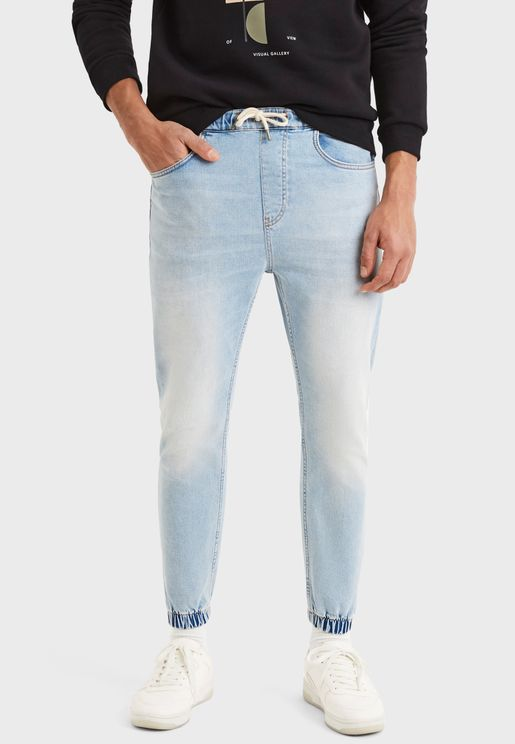 Light Wash Relaxed Jogg Jeans