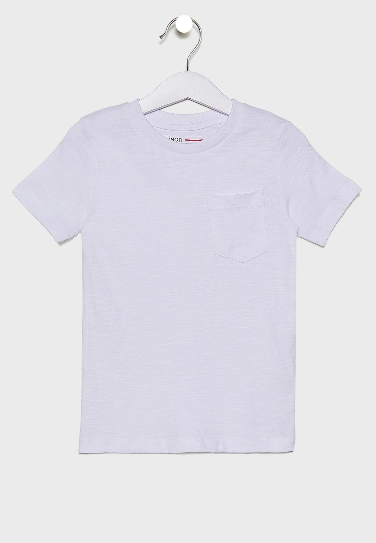 Infant Pocket Detail Crew Neck T-Shirt