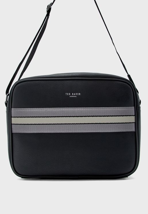 Stripe Detail Messenger Bag