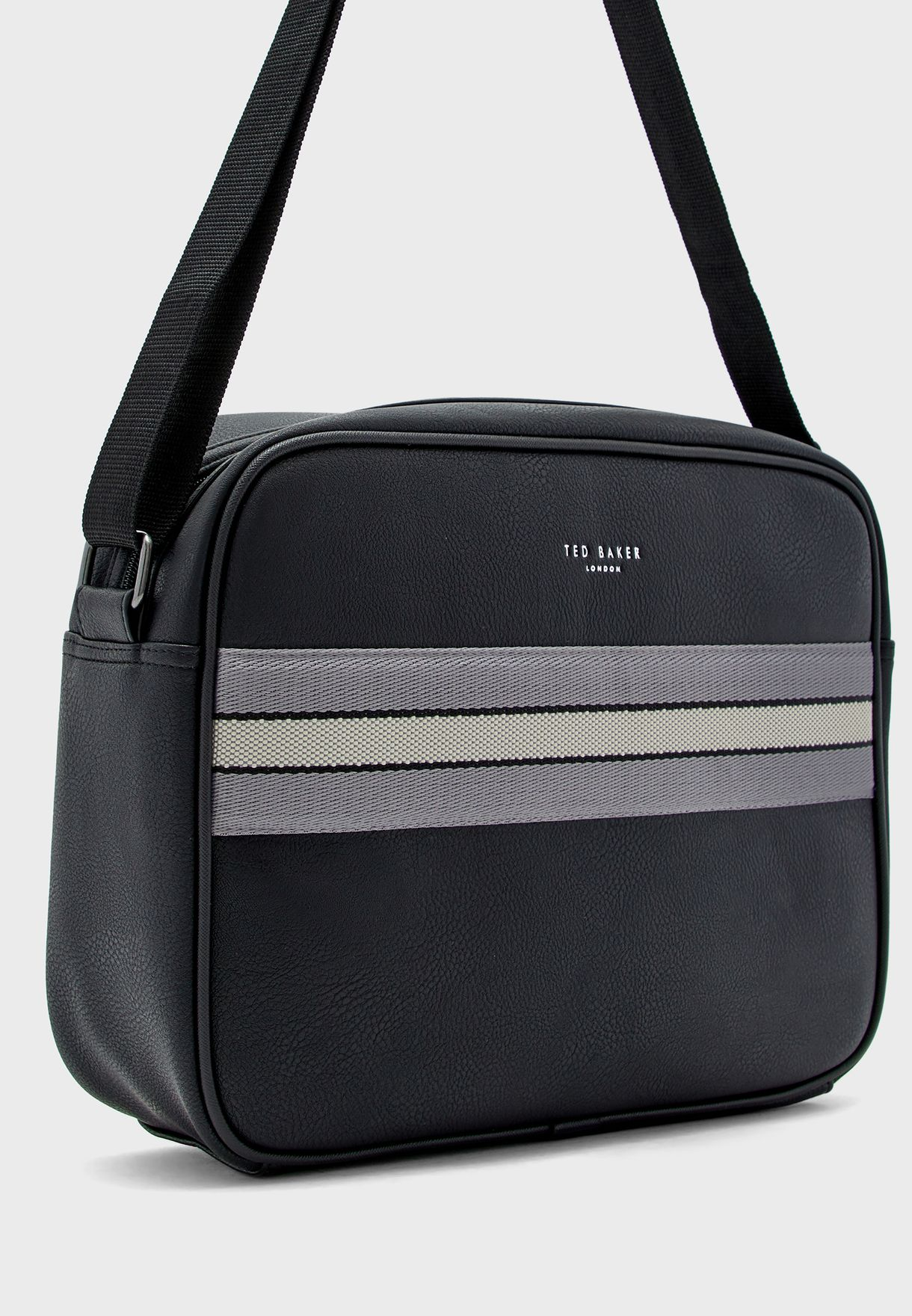 Stripe Detail Messenger Bag