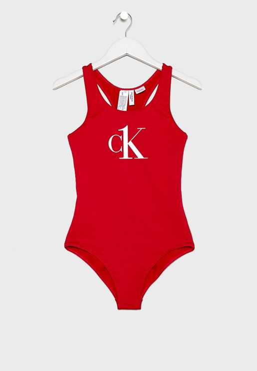 Kids Logo Swimsuit