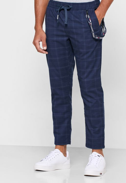 Scanton Checked Track Pants