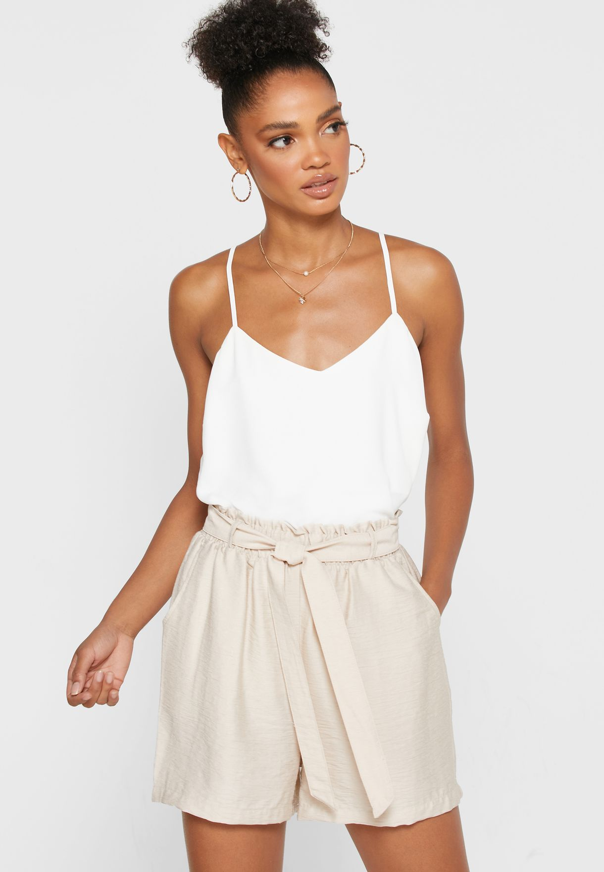 Cross Back Cami Tank Top
