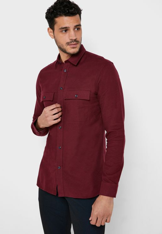 Pocket Detail Regular Fit Shirt