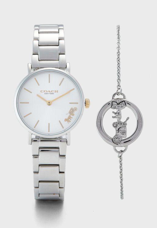 1400064 Perry Analog Watch+Bracelet Set