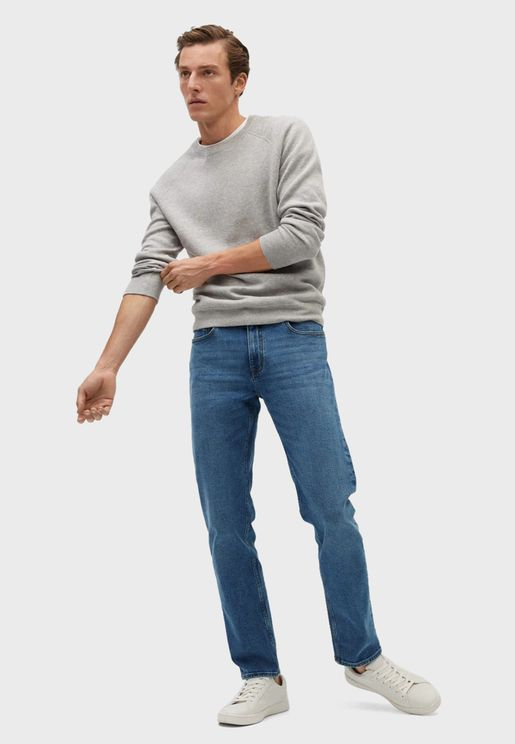 Light Wash Slim Fit Jeans